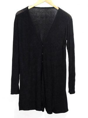 Casual Black Plain Full Sleeves Original Cotton Shirt For Women