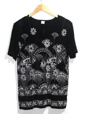 NS Classic Casual Black Printed Half Sleeves Original Cotton TankTop T-Shirt