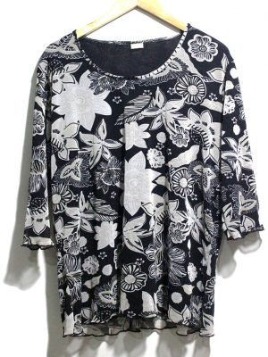 Fiamma Casual Black Printed Half Sleeves Original Cotton TankTop T-Shirt