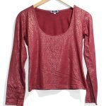 Pour Elle Casual Red Printed Full Sleeves Cotton TankTop T-Shirt