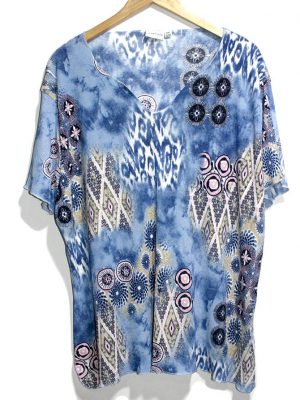 Qeen Size Casual Multicolor Printed Half Sleeves Original Cotton TankTop T-Shirt