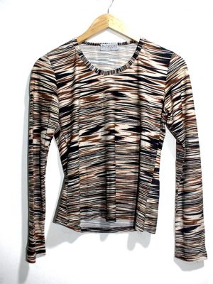Gourd Casual MultiColor Strips Full Sleeves Original Cotton TankTop T-Shirt