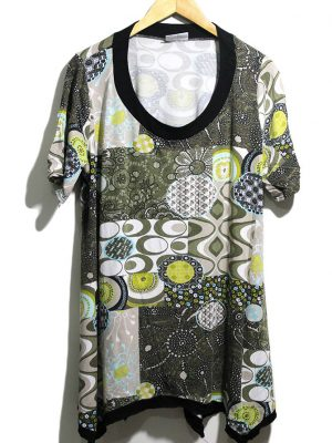 Yessica Casual Multicolor Printed Original Jersey Top-Blouse