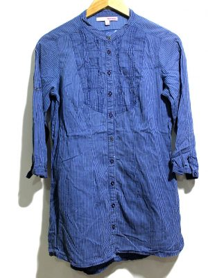 Telly Casual Blue Full Sleeves Original Polo Cotton T-Shirt