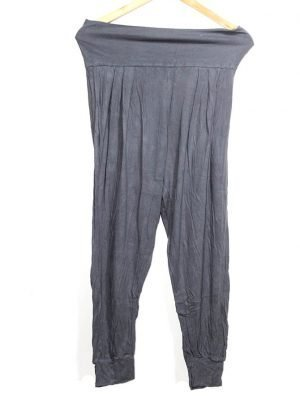 Casual Style Grey Plain Trouser For Women