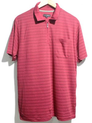 FREESTYLE Casual Pink Strips Polo Half Sleeves Original Cotton T-Shirt