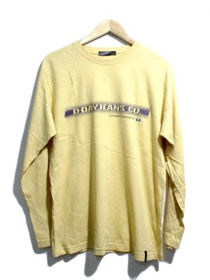 D.DAy Casual Yellow Printed Full Sleeves Original Cotton T-Shirt