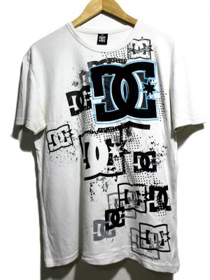 DG Casual White Printed Half Sleeves Original Cotton T-Shirt