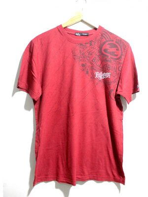 Billgbong Casual Red Printed Half Sleeves Original Cotton T-Shirt