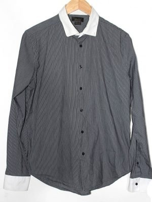 Zara Branded Original Grey Color Cotton Shirt For Men