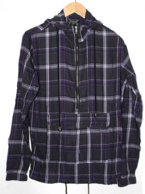 Pull & Bear Branded Original Cotton Checkered Hoodie For Men
