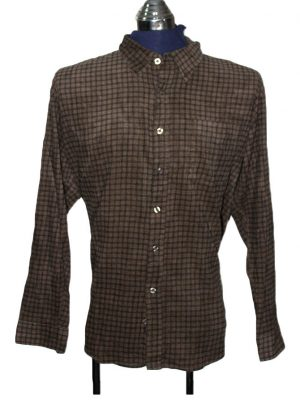 Jack & Jones Branded Brown Original Velvet Shirt For Men
