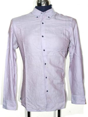 Massimo Dutti Branded Light Pink Original Cotton Shirt For Men