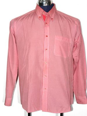 Antonio Bacci Branded Original Orange Cotton Shirt For Men