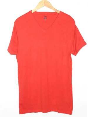 Smog Branded Original Orange Cotton T-Shirt For Men