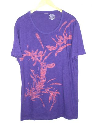 Bio Baumwolle Branded Original Purple Cotton T-Shirt For Men