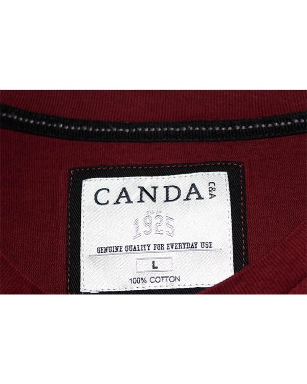 Canda Branded Original Red Cotton T-Shirt For Men