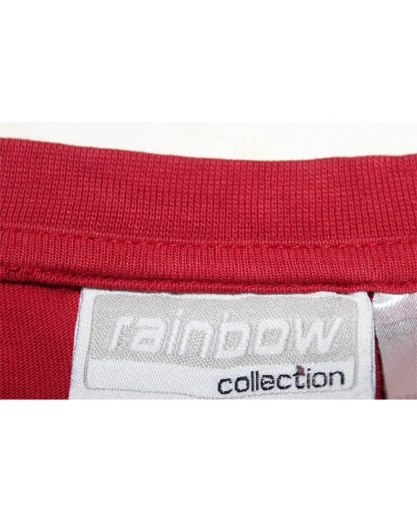 Rainbow Collection Branded Original Printed Red T-Shirt For Men