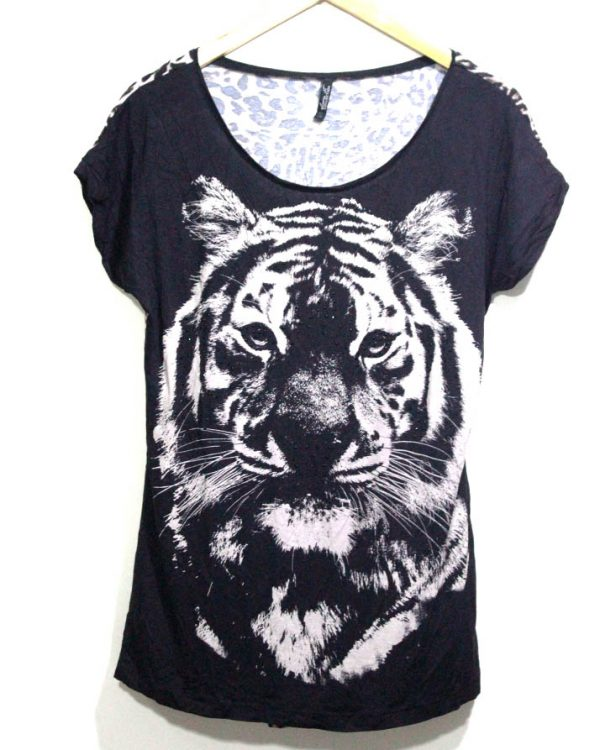 Lawa Collection Branded Fancy Black Printed Top For Women