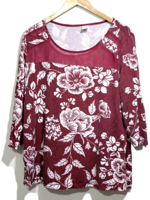 Fancy Original Multi Color Printed Cotton Top For Women