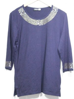 Togotriko Branded Fancy Original Navy Blue Top For Women