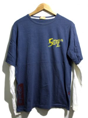 Levis Imported Original Blue Cotton T-shirt For Men