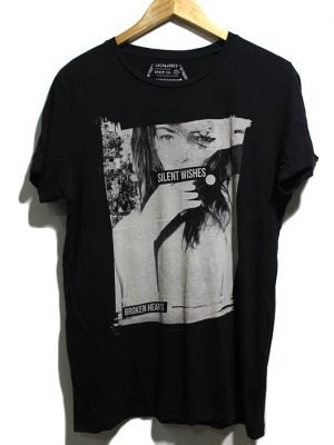 Jack & Jones Imported Original Black Cotton T-shirt For Women