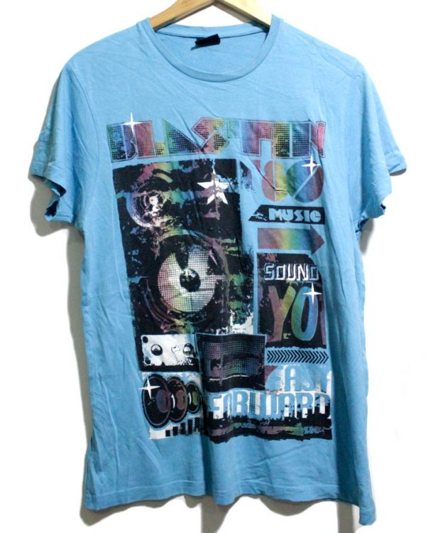 Fishbone Original Firozi Cotton Printed T-shirt For Men 1