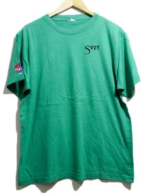 Imported Original Green Printed Cotton T-shirt For Men