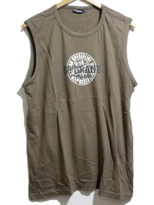Watsons Imported Original Brown Sleeveless Cotton T-Shirt For Men