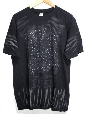 Holly Wood Imported Original Black Printed T-Shirt For Men