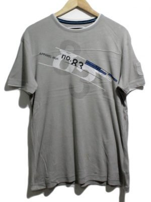 Angelo Litrico Imported Original Grey Cotton T-Shirt For Men