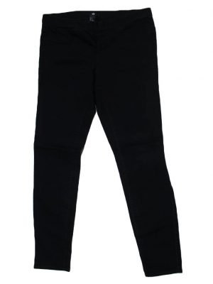 H.M Imported Original Black Cotton stretchable Pant For Women