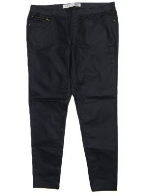 Denim Imported Original Black Stretchable Pant For Women