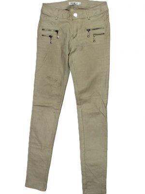 Lely Wood Imported Original Coffee Color Cotton Pant For Women