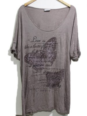 Yessica Branded Original Brown Printed Top For Women
