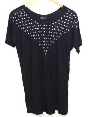Janina branded Fancy Original Black Printed Top For Women