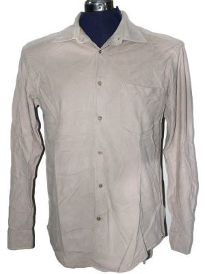 Cortrfiel Branded Original Light Brown Cotton Shirt For Men