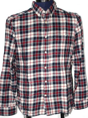 H&M Branded Original Multi Color Checkered Cotton Shirt For Men