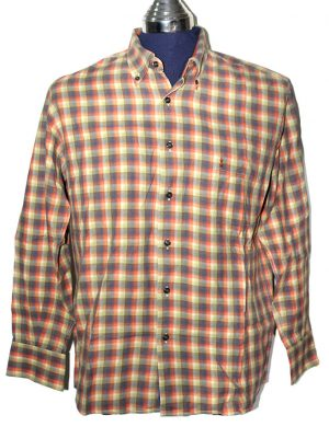 Fause Collection Branded Original Multi Color Checkered Cotton Shirt For Men