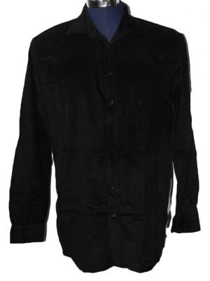 Camargue Branded Original Black Velvet Shirt For Men