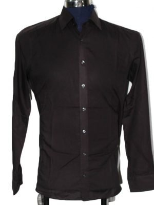 Marvelis Branded Original Brown Cotton Shirt For Men
