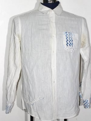 Desigual Branded Original White Cotton Shirt For Men