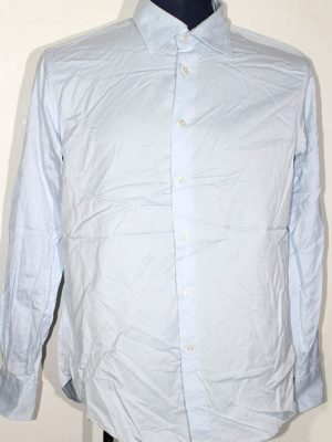 Zara Branded Original Firozi Cotton Shirt For Men