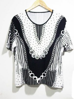 Fancy Original Multi Color Cotton Top For Women