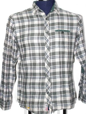 Spring Field Branded Original Multi Color Cotton Checkered Shirt For Men