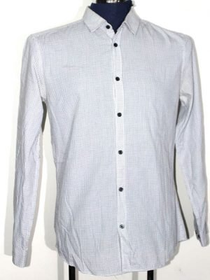 H&M Branded Original White Cotton Shirt For Men
