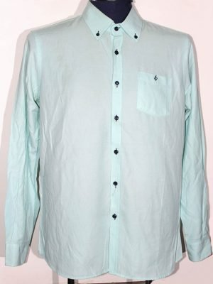 Di Bye Branded Original Light Green Cotton Shirt For Men
