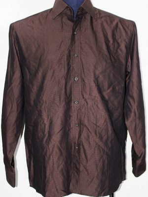 Difusion Liza Branded Original Brown Cotton Shirt For Men