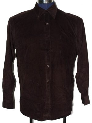 Fly Fish Branded Original Brown Velvet Shirt For Men